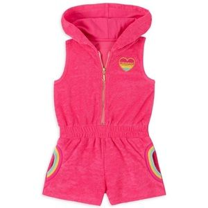 NWT Juicy Girl's Rainbow Terry Cloth Romper
